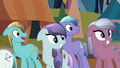 Crystal Ponies looking at the Crystal Heart S3E02.png