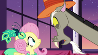 Discord snaps at Fluttershy's suggestion S5E7