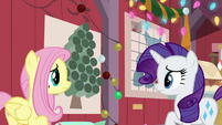Fluttershy and Rarity look concerned BGES2