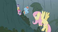 Fluttershy takes off from the ground S1E07
