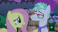 Fluttershy tells Flatterfly to take a breath S9E17