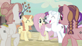 Fluttershy with other equalized ponies S5E02.png