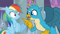 Gallus -Rainbow Dash, right-- S8E1