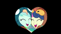 Lyra and Sweetie Drops heart-shaped iris out EG3.png
