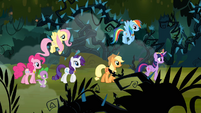 Main 6 and Spike walking through the forest S4E02