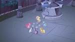 Mane 6 around the stone Elements S1E02
