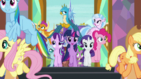 Mane Six and students enter the school S8E2