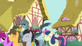 Ponyville ponies hold a parade for Gabby S6E19.png