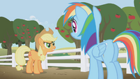 Rainbow Dash accused of spying by Applejack S1E3