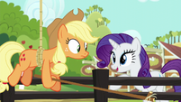 "Rarity ""maybe it isn't so hard to get stuck"" S6E10"