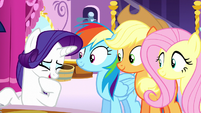 Rarity giggling amusedly S6E9