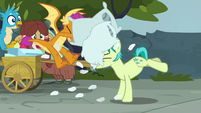 Sandbar and Smolder having a pillow fight S8E2