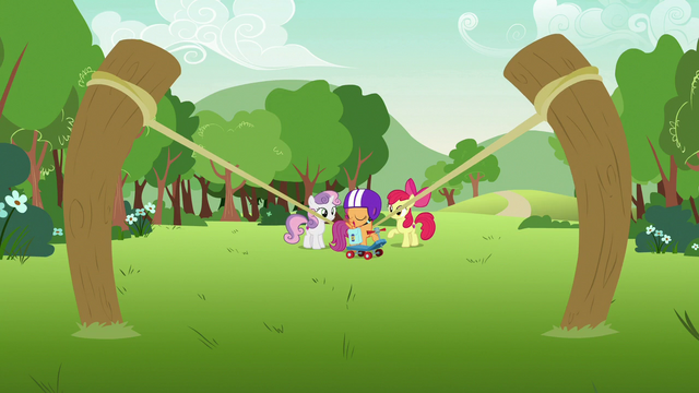 File:Scootaloo standing in the slingshot's path S7E7.png