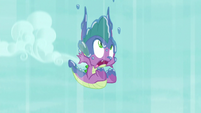 Spike falls helplessly toward the ground S9E13