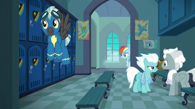 File:The Wonderbolts in the academy locker room S7E7.png