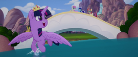 Twilight looks at Moon Dancer and friends MLPTM