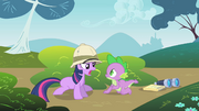 Twilight tells off Spike for sneaking up on her S1E15