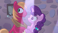 Big Mac and Sugar Belle hear Feather Bangs sing S7E8.png