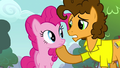 Cheese with hoof on Pinkie's chin S4E12.png