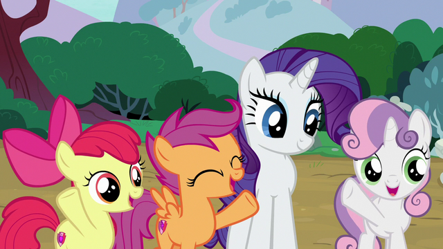 "File:Cutie Mark Crusaders ""no problem!"" S7E6.png"