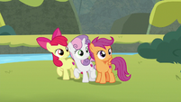 Cutie Mark Crusaders listening to Terramar S8E6