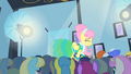 Fluttershy being observed by ponies S1E20.png