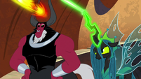 Lord Tirek and Chrysalis using magic S9E24