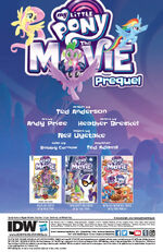 MLP The Movie Prequel issue 2 credits page