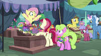Pegasus Angel pops up behind flower stand S9E18