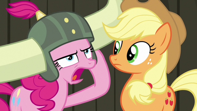 """File:Pinkie """"pink pony no need apple pony's help!"""" S7E11.png"""