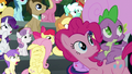 Pinkie Pie and Spike look to the sky S6E7.png