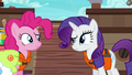 Pinkie and Rarity look at each other confused S6E22.png