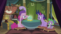 Pinkie with crystal ball S2E20