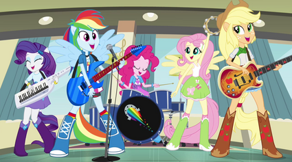 Rainbooms ponified during Better Than Ever EG2