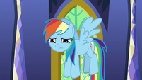 Rainbow Dash starting to cry S9E26