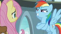 Rainbow Dash with a confident grin S9E21