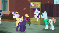 Rarity opens a friendship advice stand S5E16