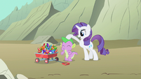 Rarity patting Spike S1E19