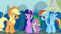 Spike wants Twilight to challenge Trixie S1E06.png