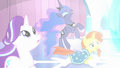 Starlight, Luna, and Sunburst about to get crystallized S6E2.png
