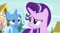 Trixie says --told you-- to Starlight Glimmer S6E25