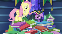 Twilight Sparkle with a book on her head S7E20