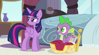 "Twilight and Spike ""could be morning"" S4E01"