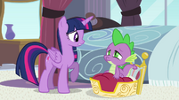 Twilight and Spike -middle of the night- S4E01