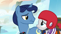 Velvet and Night Light look at each other unconvinced S7E22.png