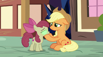 AJ tries to snap Apple Bloom out of it S9E2