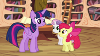 "Apple Bloom ""learn these new skills, Twilight"" S4E15"