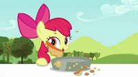 Apple Bloom licks pie filling off her face S5E17