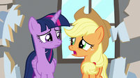 "Applejack ""classrooms were less breakable"" S8E21"