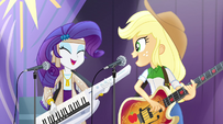 Applejack and Rarity start singing Shake Your Tail EG2